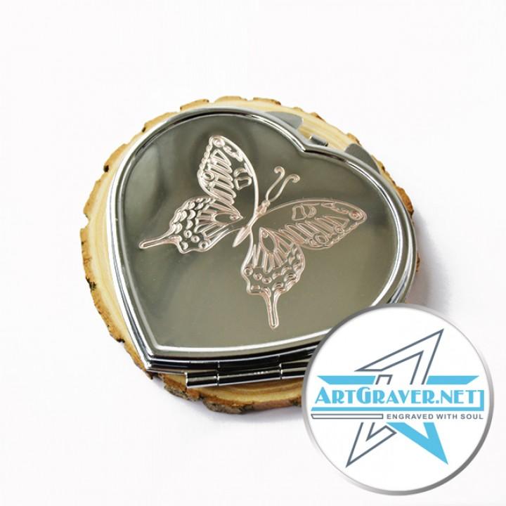 Зеркальце карманное с именной гравировкой